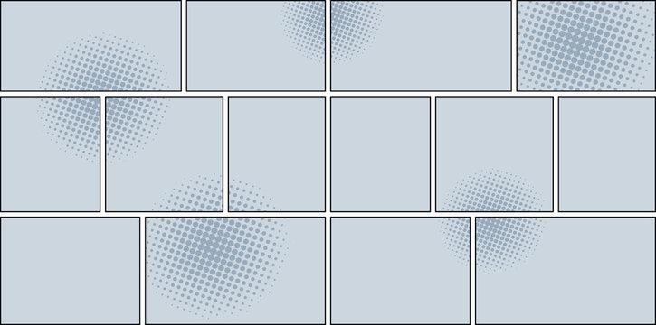 Comic book page monochrome background