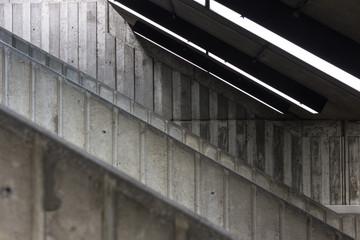 Concrete stairwell leading to underground