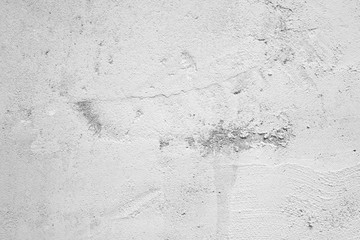 Fotobehang - Blank grunge gray and white cement wall texture background, interior design background, banner
