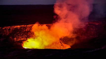 Hawaii Volcanoes Park encompasses 333,000 acres from the summit of Maunaloa to the sea. There are two Volcanoes - Maunaloa, which last erupted in 1984 and Kilauea which has been erupting since 1983.