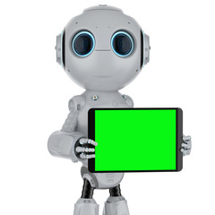 robot with tablet