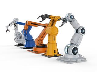 Five robotic arms
