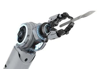 Robotic hand with scalpel