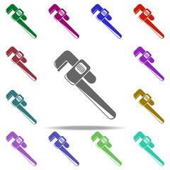 pipe wrench icon. Elements of Construction tools in multi color style icons. Simple icon for websites, web design, mobile app, info graphics