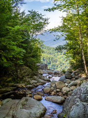 The top of Roaring Fall in Adirondack mountains