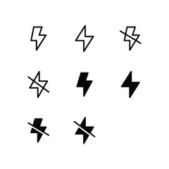 Flash Icon Logo Vector Symbol
