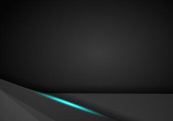 abstract metallic blue black frame layout modern tech design template background.
