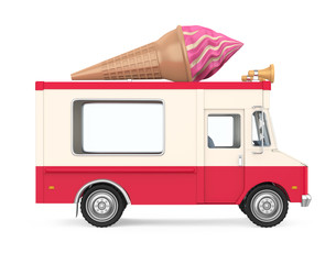 Ice Cream Truck Isolated
