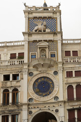 VENICE, ITALY- OCTOBER 30, 2018: St Mark's Clocktower in Piazza San Marco