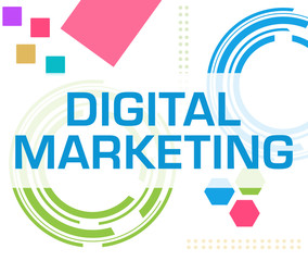 Digital Marketing Colorful Technology Background Text