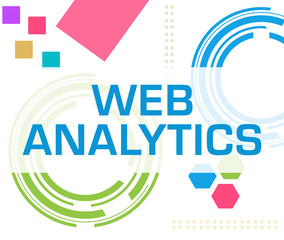 Web Analytics Colorful Technology Background Text