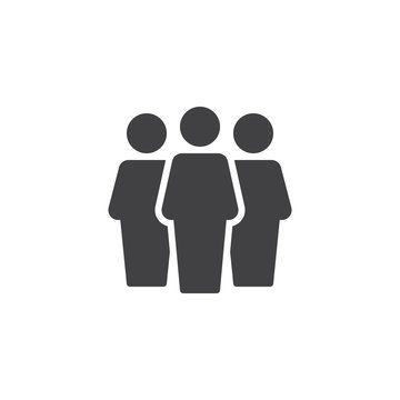 User group vector icon. filled flat sign for mobile concept and web design. Group of people simple solid icon. Symbol, logo illustration. Pixel perfect vector graphics