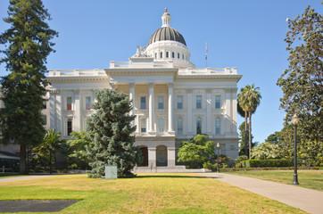 Sacramento state capitol and park California.