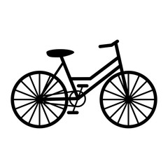 Bicycle black silhouette vector illustration