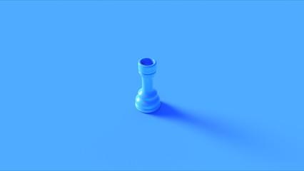 Blue Chess Rook Piece 3d illustration 3d rendering