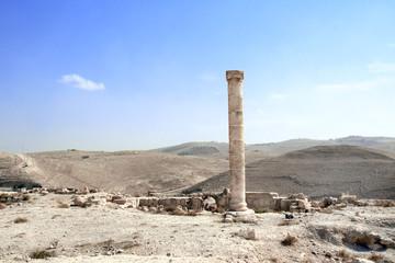 Ruins of King Herod's fortified palace Machaeros, Jordan