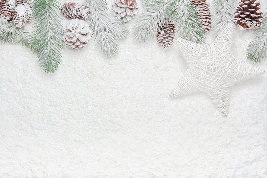 High angle Christmas decoration flat lay