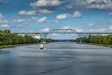 Eisenbahnbrücke Hochdonn über dem Nordostseekanal