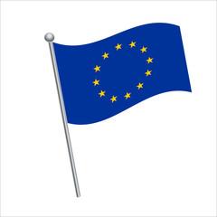 Eu flag vector Illustration on White background