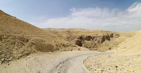 Steinwüste, Judäische Wüste bei Jericho Panorama