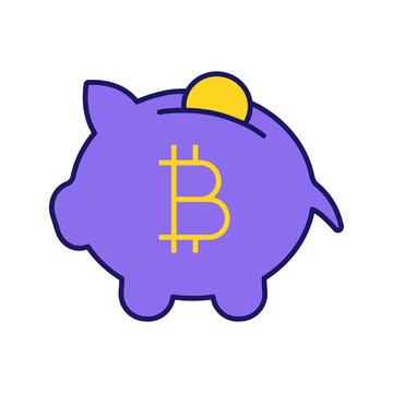 Bitcoin deposit color icon