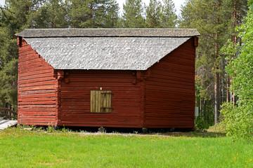 außergewöhnliches altes Blockhaus in Jokkmokk
