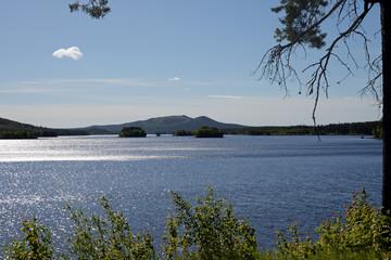 Panorama am lilla luleälv See bei Jokkmokk