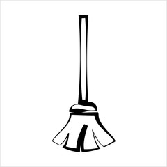 Broom Icon, Cleaning Broom
