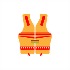Life Vest Icon, Life Saving Jacket