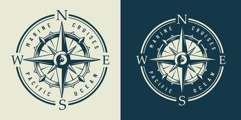 Vintage monochrome marine label