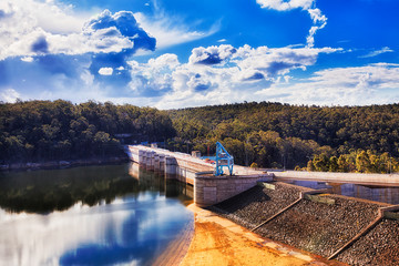 Deurstickers Dam Warragamba Dam Close Lake