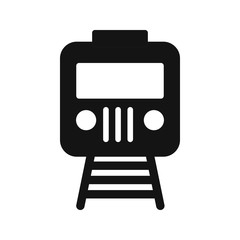 Train Transport Glyph Icon
