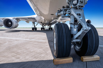 landing gear of an modern airliner