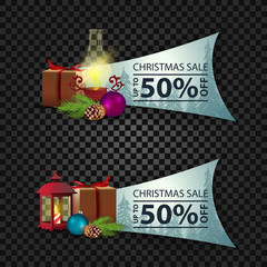 Christmas modern banner with 50% sale
