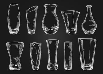 vase set sketch black