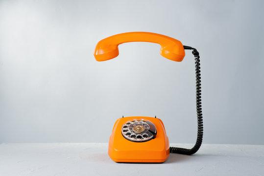 Retro orange phone