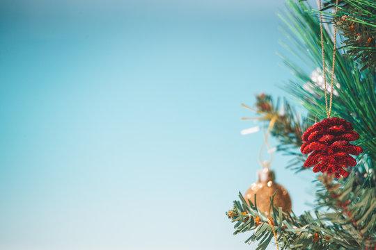 Christmas tree baubles seasonal  background