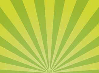 Sunlight wide abstract background. Green color burst background. Vector illustration.