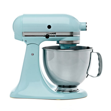 Blue Stand or kitchen Mixer With Clipping Path Isolated On White Background