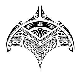 Polynesian ethnic style tattoo for bicep area