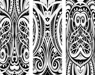 Maori style ornament set