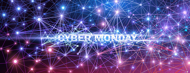 Cyber Monday. Vector Technology illustration