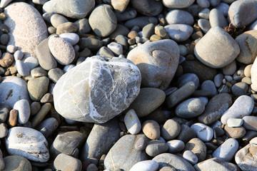 gray background pebbles