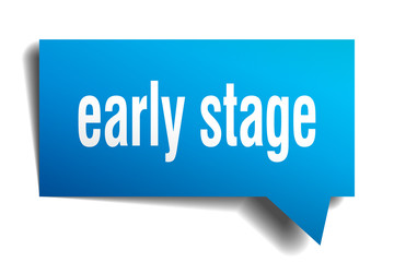 early stage blue 3d speech bubble