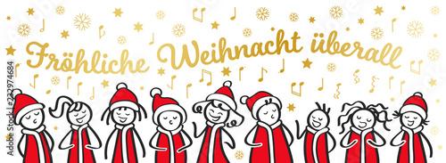 Lustige Weihnachtslieder.Weihnachtschor Sternsinger Chor Banner Lustige