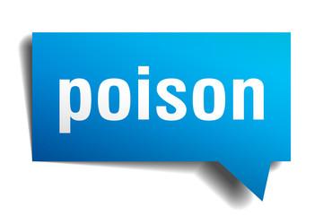 poison blue 3d speech bubble