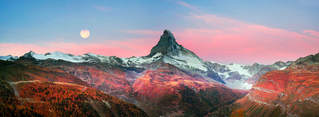 Matterhorn slopes in autumn