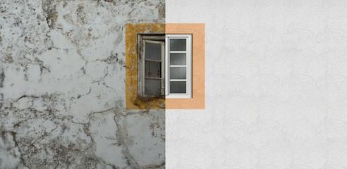 Fassadensanierung, Fassadenrenovierung, Fenstersanierung, Fassadensanierung, Neuer Anstrich Mauerwerk