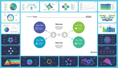 Creative business infographic design for development concept. Can be used for workflow layout, annual report, web design. Process chart, option chart, flowchart, donut chart, organizational graph