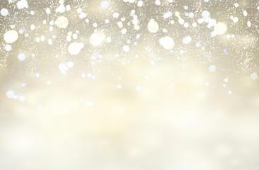 christmas lights festive defocused gray glowing background